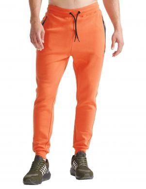 SUPERDRY vīriešu oranžas sporta stila bikses TRAINING GYMTECH JOGGER