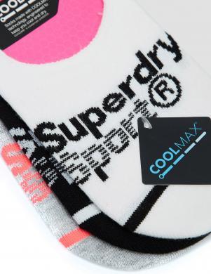 SUPERDRY sieviešu zeķes (3 pāri) COOLMAX INVISIBLE SOCK 3PK