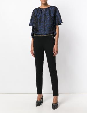 CAVALLI CLASS melnas krāsas stilīgas sieviešu bikses