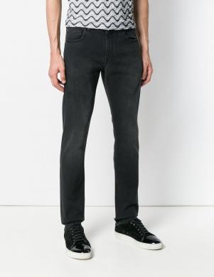 Melnas krāsas vīriešu džinsi CAVALLI CLASS