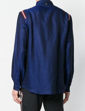 Zilas krāsas stilīgs vīriešu krekls CAVALLI CLASS