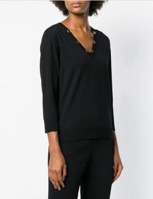 CAVALLI CLASS melns vilnas sieviešu džemperis