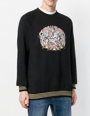 Melnas krāsas vīriešus džemperis CAVALLI CLASS