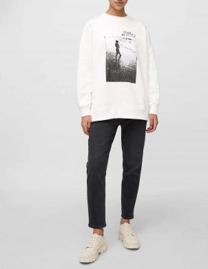 MARC O POLO sieviešu balts kokvilnas džemperis