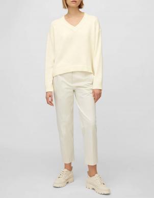 MARC O POLO sieviešu balts alpakas vilnas džemperis