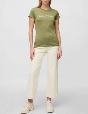 MARC O POLO sieviešu zaļš krekls ar īsām piedurknēm