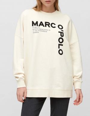MARC O POLO sieviešu gaišs džemperis ar uzrakstu