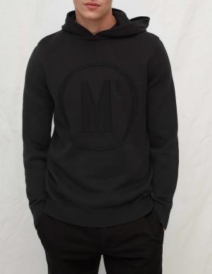 MARC O POLO vīriešu melns kokvilnas džemperis ar kapuci
