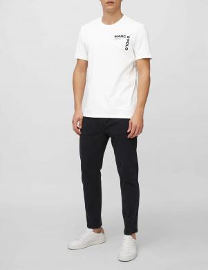 MARC O POLO vīriešu balts kokvilnas krekls ar īsām piedurknēm