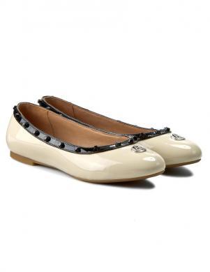 Sieviešu krēmīgas krāsas balerīnas apavi ARMANI JEANS