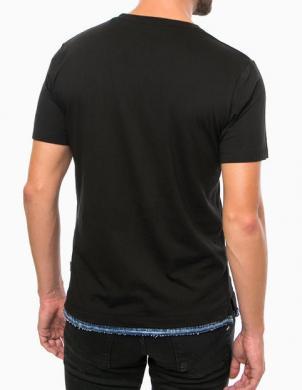 DIESEL melns vīriešu krekls GERALD CAMISETA
