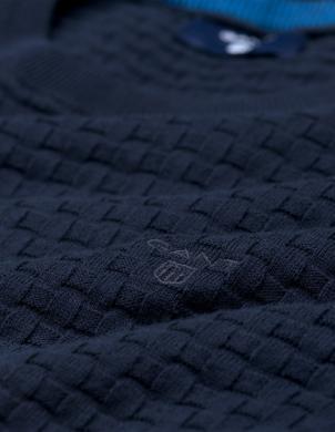 Zils ādīts vīriešu džemperis GANT