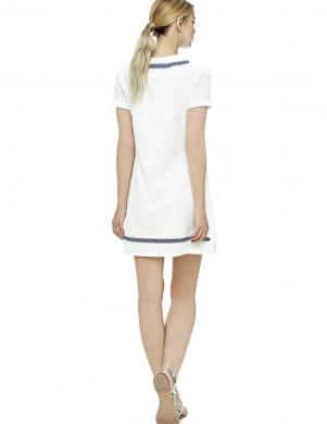 GUESS balta kleita ar zilu ornamentu