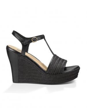 Sieviešu melnas sandales ar augstu platformu UGG