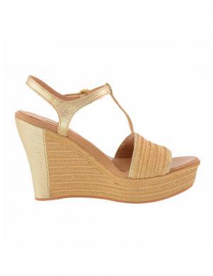 Sieviešu zelta krāsas sandales ar augstu platformu UGG
