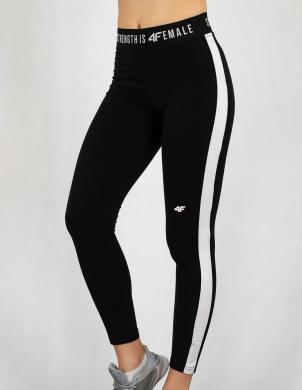 Melnas sieviešu sporta bikses LEG002 4F