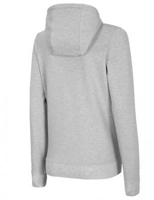 Sieviešu gaiši pelēks džemperis ar kapuci BLD005 4F