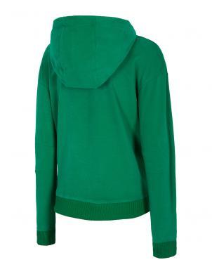 Sieviešu zaļš džemperis ar kapuci BLD010 4F