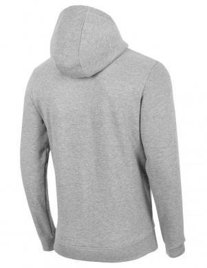 Vīriešu gaiši pelēks džemperis ar kapuci BLM010 4F