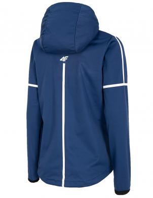 Sieviešu tumši zila sporta jaka ar kapuci SFD003 4F