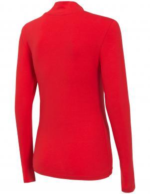 Sarkans sieviešu krekls ar augstu apkakli TSDL002 4F
