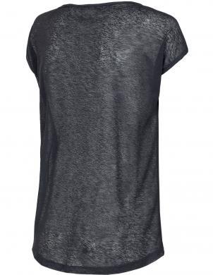 Sieviešu sporta melns krekls TSDF003 4F