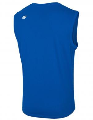 Vīriešu bez piedurknēm zils krekls TSM001 4F