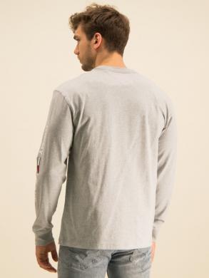 TOMMY JEANS pelēks vīriešu krekls