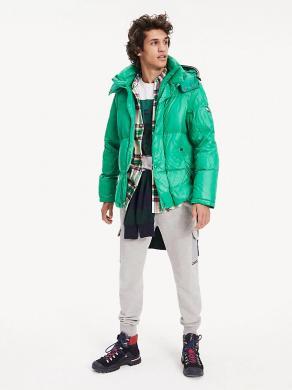 TOMMY HILFIGER zaļa vīriešu jaka