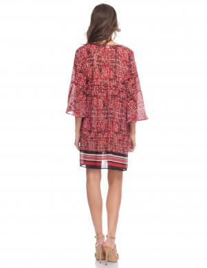 Sarkana stilīga sieviešu kleita DIVINE