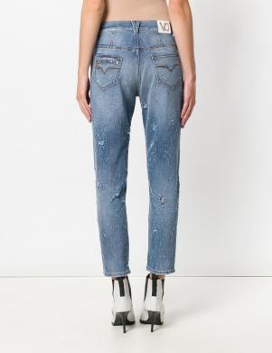 Gaiši Zilas krāsas stilīgas sieviešu džinsas VERSACE JEANS