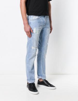 Zilas krāsas vīriešu džinsi VERSACE JEANS