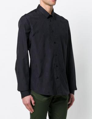 Melnas krāsas klasisks vīriešu krekls VERSACE JEANS