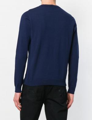 Zilas krāsas vīriešus džemperis ar aplikāciju VERSACE JEANS