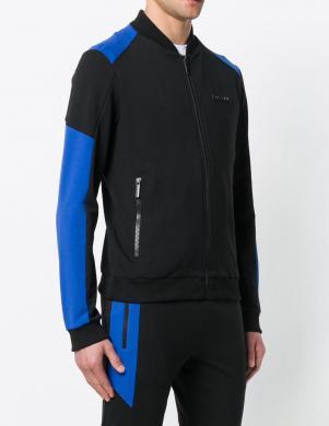 Melnas un zilas krāsas vīriešus jaka ar rāvējslēdzi VERSACE JEANS