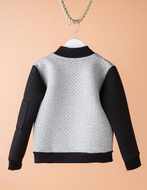 DODO KIDS pelēkas/melnas krāsas bērnu džemperis