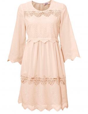 Krēmīgas krāsas mežģīņu kleita LINEA TESINI