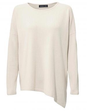 Balts sieviešu džemperis no kašmira PATRIZIA DINI