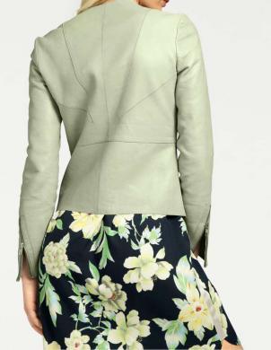Piparmētru stilīga ādas jaka RICK CARDONA