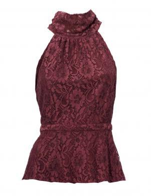 ASHLEY BROOKE bordo krāsas eleganta sieviešu blūze