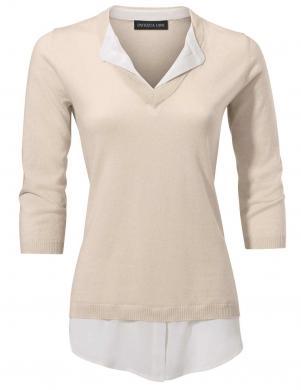 Krēmīgas krāsas blūze ar krekla imitāciju PATRIZIA DINI