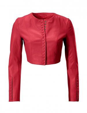 Sarkana ādas sieviešu jaka ASHLEY BROOKE