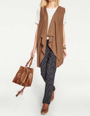 RICK CARDONA brūnas krāsas stilīga sieviešu veste