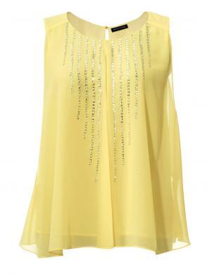 ASHLEY BROOKE sieviešu stilīga dzeltenas krāsas blūze