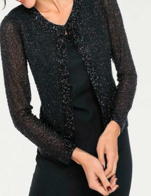 Melna kleita ar stilīgu jaku ASHLEY BROOKE