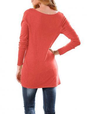 RICK CARDONA koraļļu krāsas sieviešu džemperis-tunika