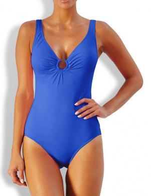 CLASS INTERNATIONAL zilas krāsas viengabala sieviešu peldkostīms