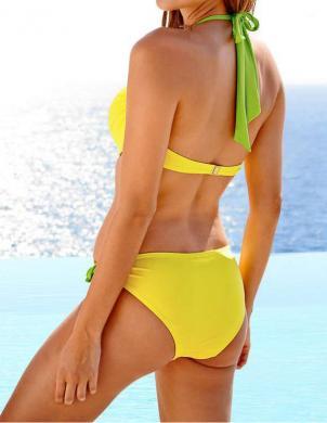 HEINE dzeltenas krāsas sieviešu divu daļu peldkostīms