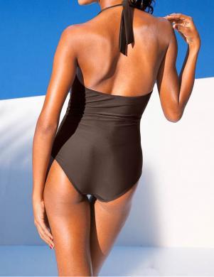 CLASS INTERNATIONAL brūnas krāsas viengabala sieviešu peldkostīms