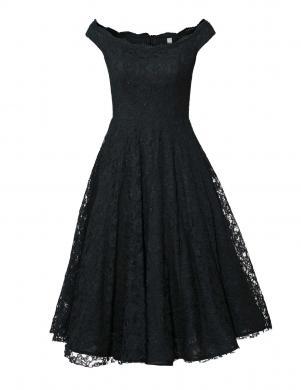 Grezna melna ģipūra kleita ar pūstiem svārkiem HEINE